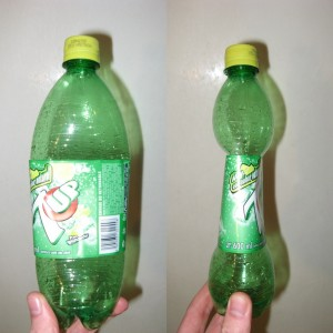 Squished 7 Up bottle (2009-03-08)